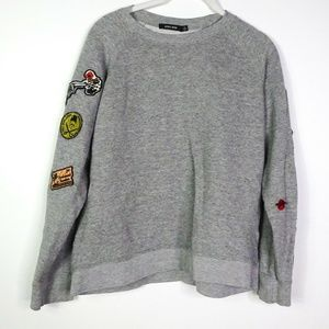Obey Women's Sweatshirt Top Long Sleeve Pullover